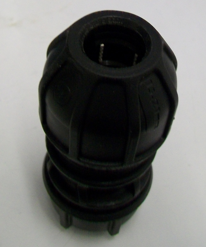 Universal mdpe coupling mm to pipe adapter